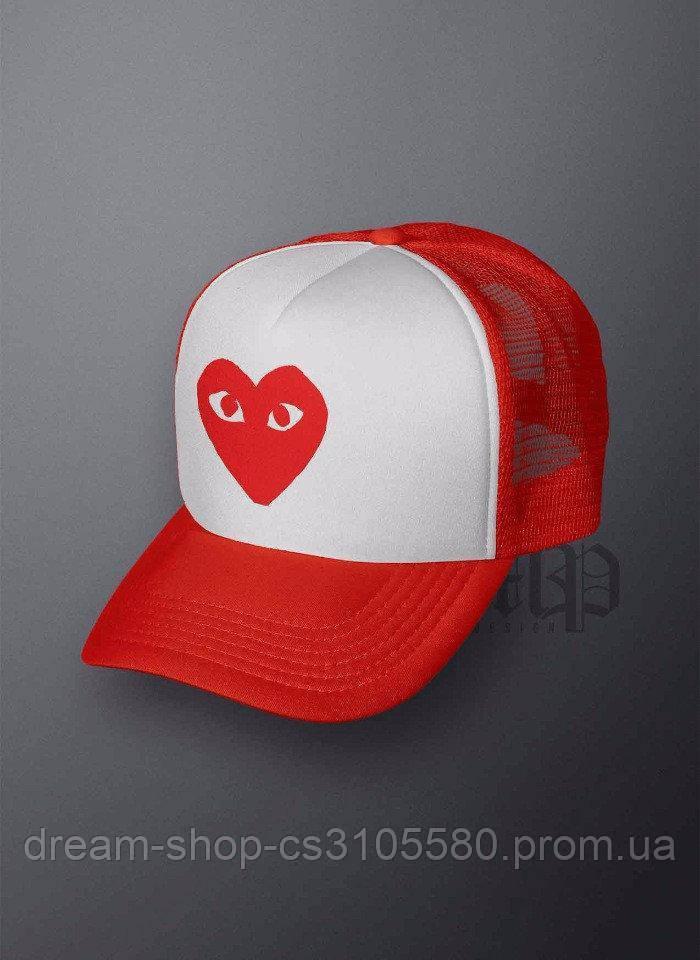 Мужская кепка из сеткой Комме дес гарконс, летняя кепка Comme Des Garcons