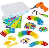 "Конструктор Tu Le Hui ""Puzzle Peg"" чемодан 224 детали | Детский набор мозаика | Конструктор для детей, фото 5"