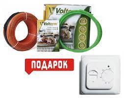 Електрична тепла підлога, нагрівальний кабель під плитку Volterm HR18 140 Вт, 7,5м