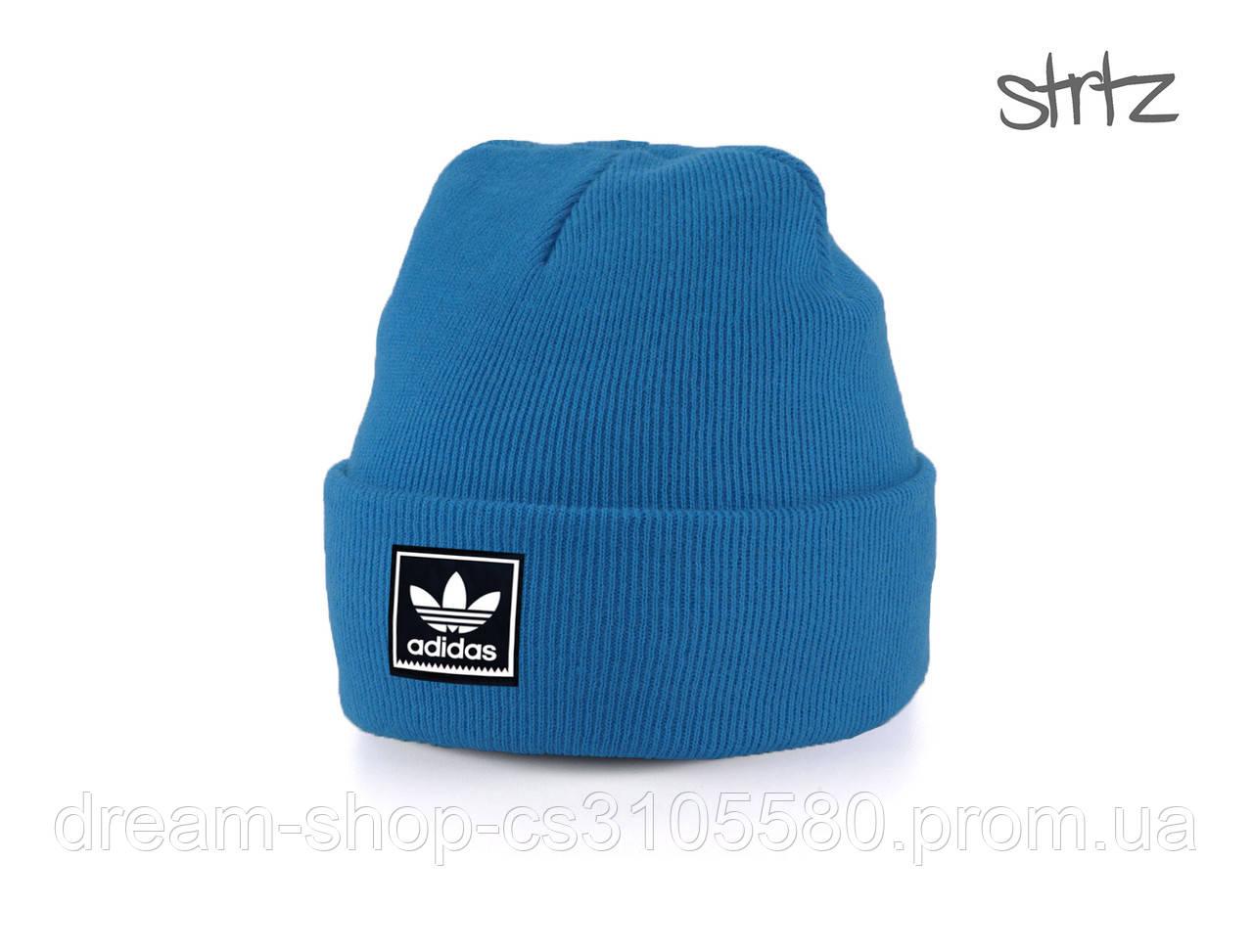 Акриловая шапка Адидас (унисекс), Демисезонная шапка Adidas