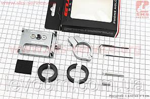 Тримач телефону на кермо, ширина 50-100мм регульована, алюмінієвий, сірий G-85