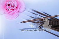 Кисточка для рисования, бамбуковая ручка, ворс ласки