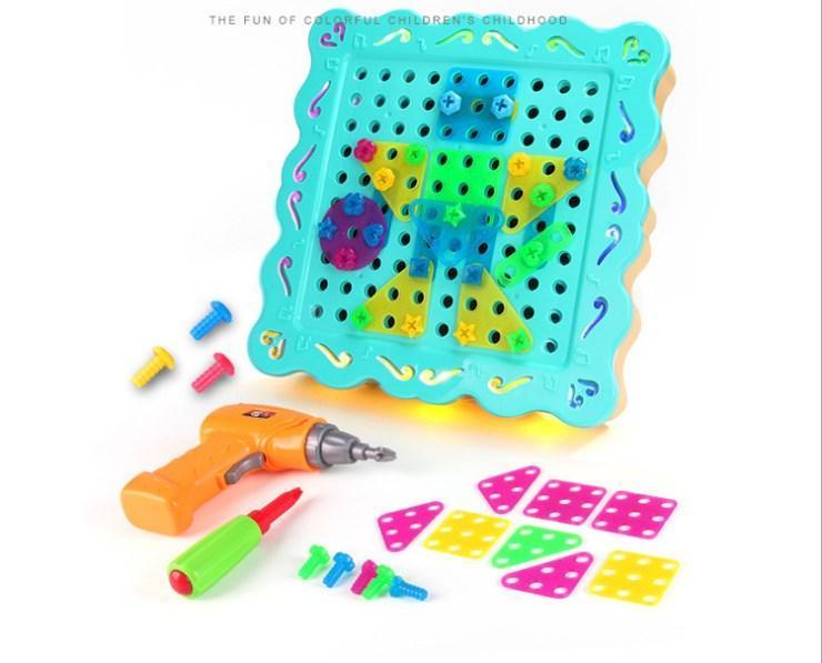 """Конструктор Tu Le Hui """"Diy Light Puzzle"""" на шурупах 200 деталей"""