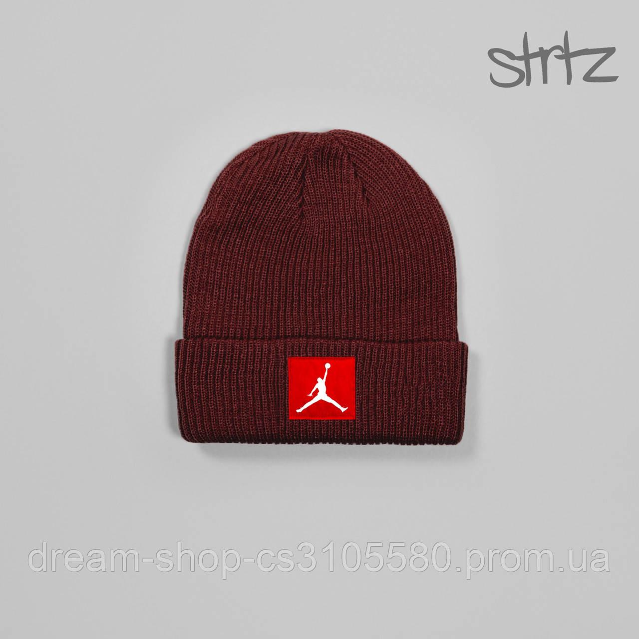 Акриловая шапка Джордан (унисекс), Демисезонная шапка Jordan