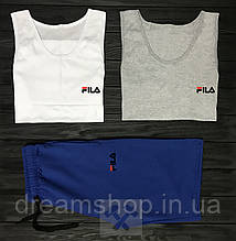 Чоловічий комплект трійка дві майки і шорти Філа, матеріал бавовна