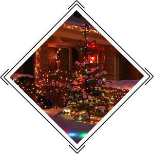 Вуличні новорічні гірлянди