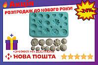 Молд силиконовый Empire - 105 x 70 мм, пуговички