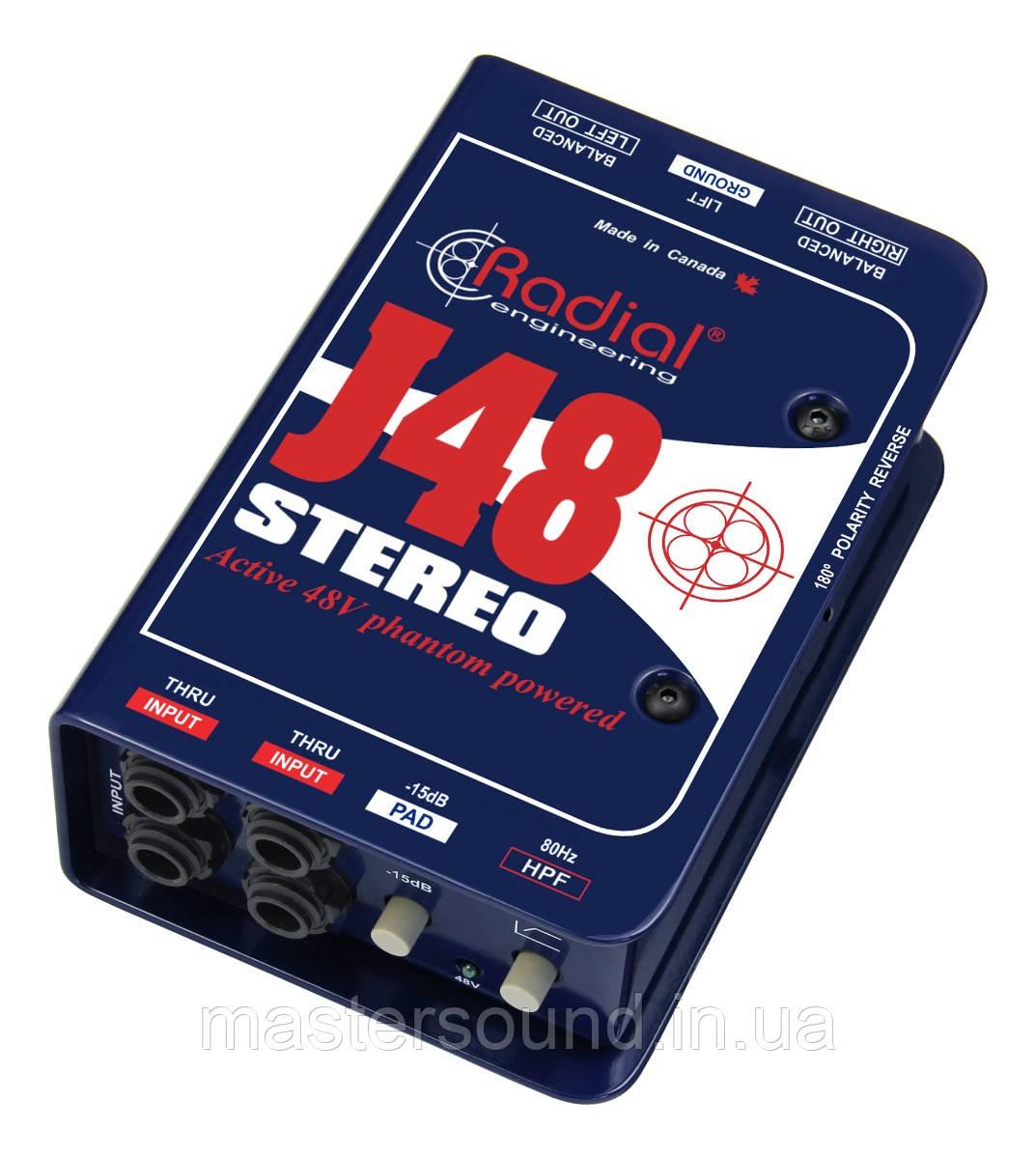 Директ-бокс Radial J48 Stereo