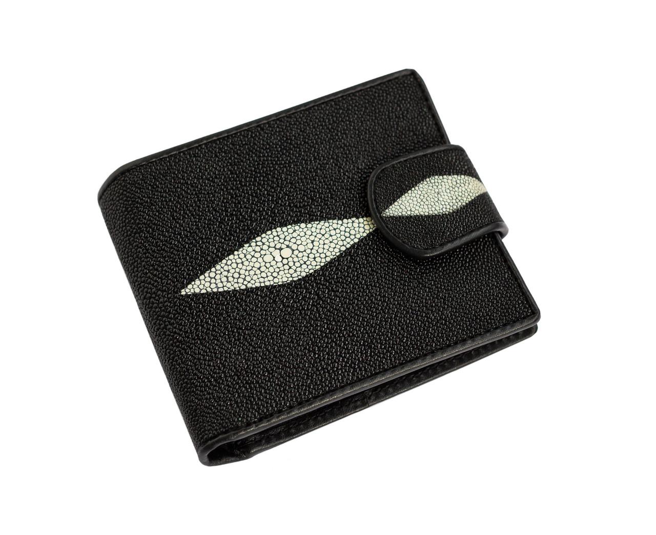 Кошелек из кожи ската Ekzotic Leather черный (stw 154)