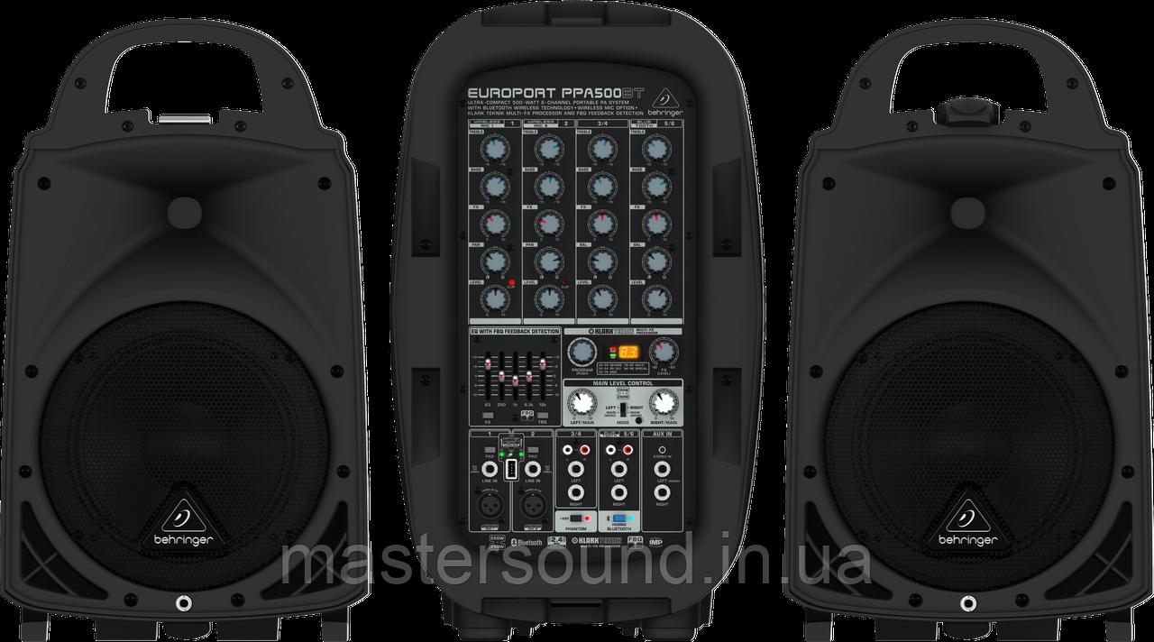 Звуковой комплект Behringer EUROPORT PPA500BT