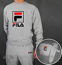 Мужской спортивный костюм реглан и штаны на манжете Фила, спортивный костюм Fila