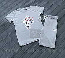 Мужская футболка и шорты Фила (Fila), Турцицкий хлопок