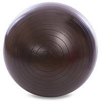 Мяч для фитнеса (фитбол) 65см гладкий сатин Zelart FI-1983-65, Черный