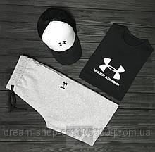 Комплект трійка кепка шорти і футболка Андер Армор, для чоловіків