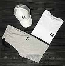 Мужской летний комплект кепка шорты и футболка Андер Армор (Under Armour)