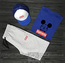 Чоловічий річний комплект кепка шорти і футболка Супрім (Supreme)