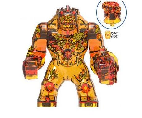 Большие фигурки Элементаль Огня Супергерой Марвел 7-8 см конструктор аналог Лего