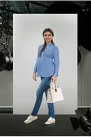 Джинсы с декоративной резинкой Dianora L Синий 1607 0030