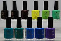Гель-лак yre scl 10 ml, цветное покрытие №117-128, палитра гель лаков