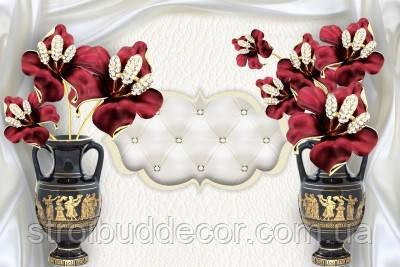 Фотообои 3Д вазы  разные текстуры  , индивидуальный размер