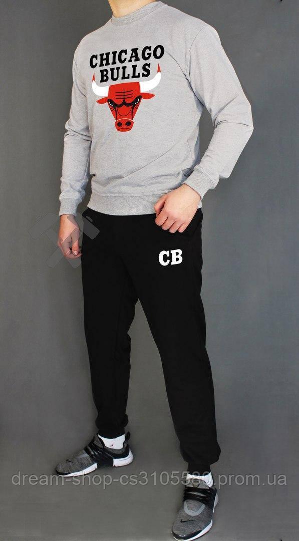 Мужской спортивный костюм реглан и штаны на манжете Чикаго Буллс, спортивный костюм Chicago Bulls XS