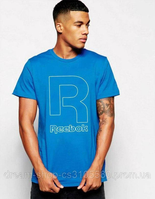 Трикотажная мужская футболка Рибок, хлопковая футболка Reebok S