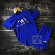Мужская футболка и шорты Баленсиага (Balenciaga), Турцицкий хлопок