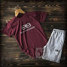 Чоловіча футболка і шорти Баленсіага, трикотажна