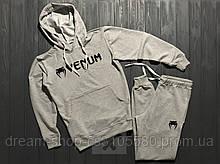 Мужской спортивный костюм худи и штаны на манжете Венум, спортивный костюм Venum