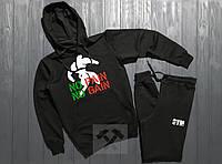 Мужской спортивный костюм худи и штаны на манжете Ворлд Джим, спортивный костюм World Gym
