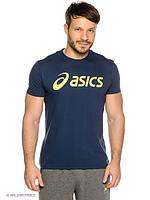 Трикотажная мужская футболка Асикс, хлопковая футболка Asics
