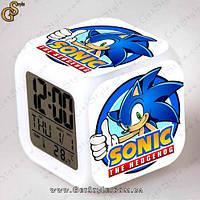 """Настольные часы Соник  - """"Sonic Clock"""" с подсветкой, фото 1"""