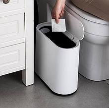 Компактный мусорный контейнер с крышкой 10 л