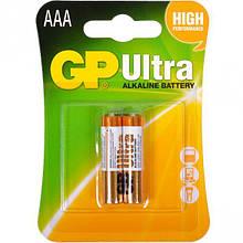 Батарейка GP ULTRA ALKALINE, 24AUHM-2UE2 LR03, AAA (2шт бл.)