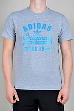 Трикотажная мужская футболка Адидас, хлопковая футболка Adidas