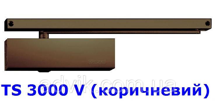 Доводчик Geze TS 3000 V з ковзною тягою (коричневий)