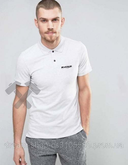 Мужская футболка с воротником Венум, мужское поло Venum