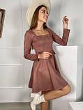 Платье женское замш, фото 3