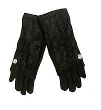 Перчатки женские сенсорные черные 8,5 L