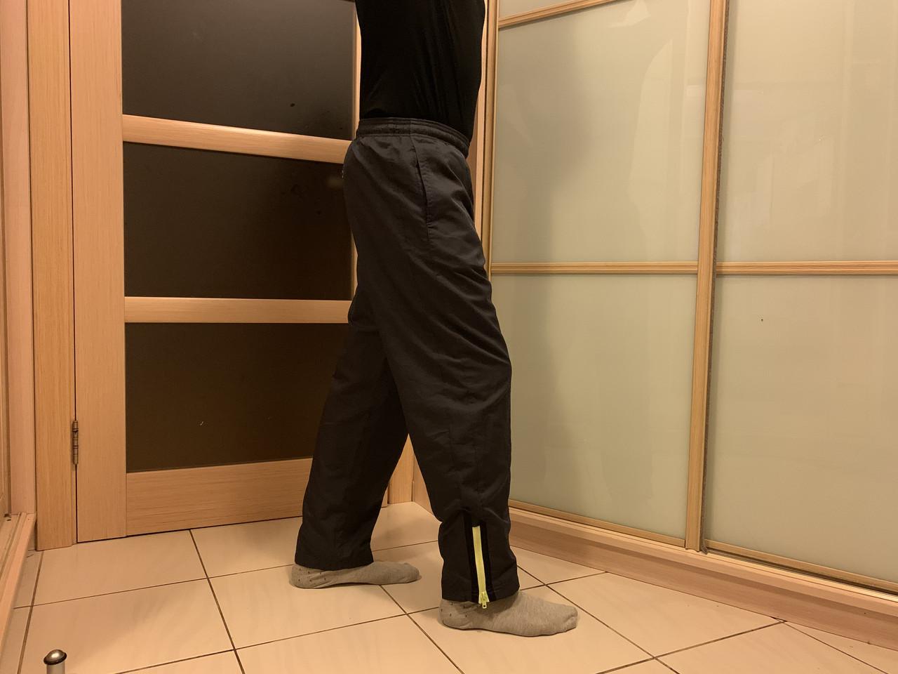 Дождевые мото штаны со светоотражающий полоской