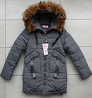Куртка зимова на дівчинку 140-164 розмір в роздріб, фото 1