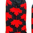 Носки высокие с принтом флаг Канады черные 37-43, фото 4