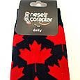 Носки высокие с принтом флаг Канады черные 37-43, фото 3