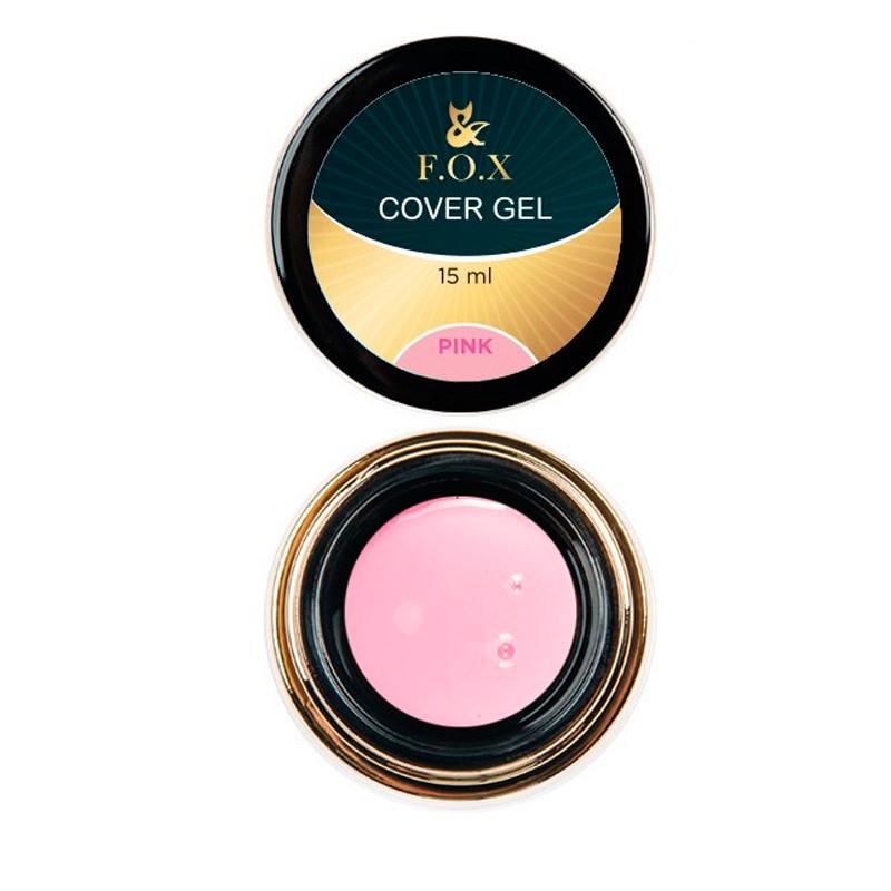 Гель для наращивания ногтей розовый, F.O.X. 15 мл