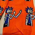 Носки Рик и Морти - Рик оранжевые размер 37-43, фото 5
