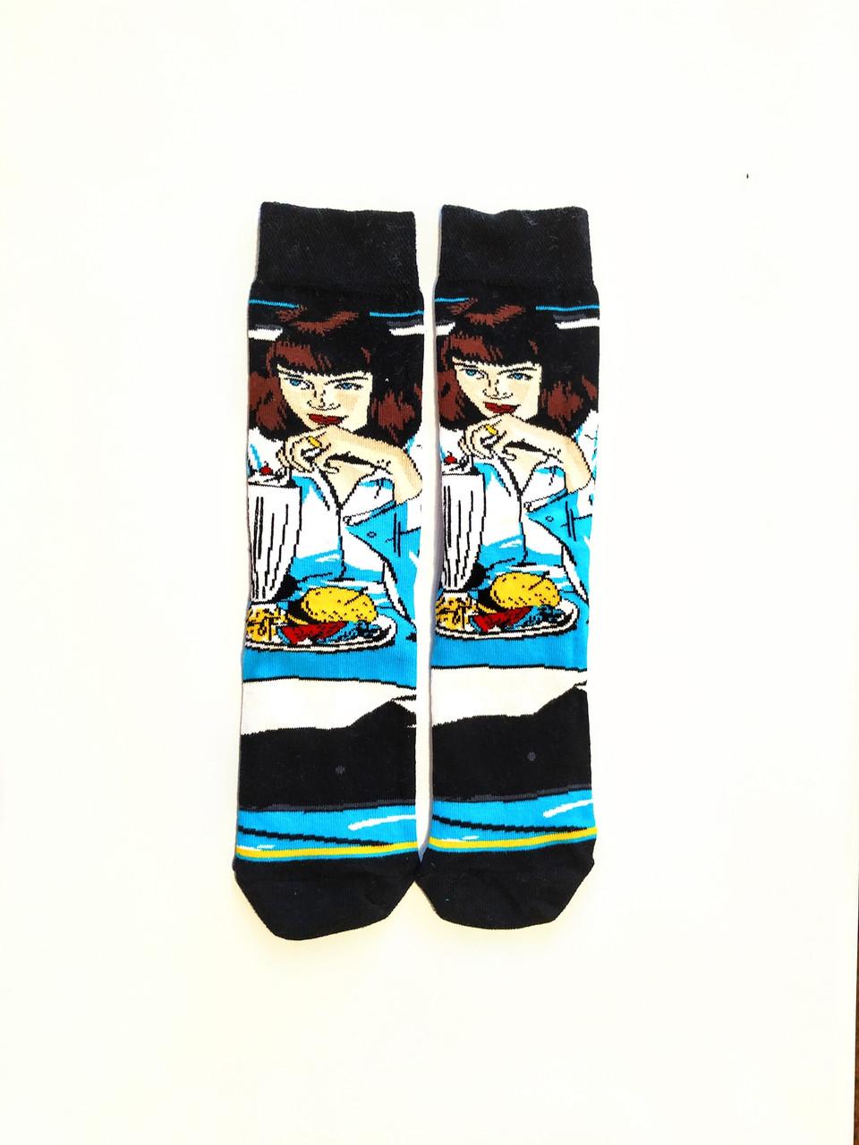 Шкарпетки високі з принтом Мія Уоллес розмір 37-43