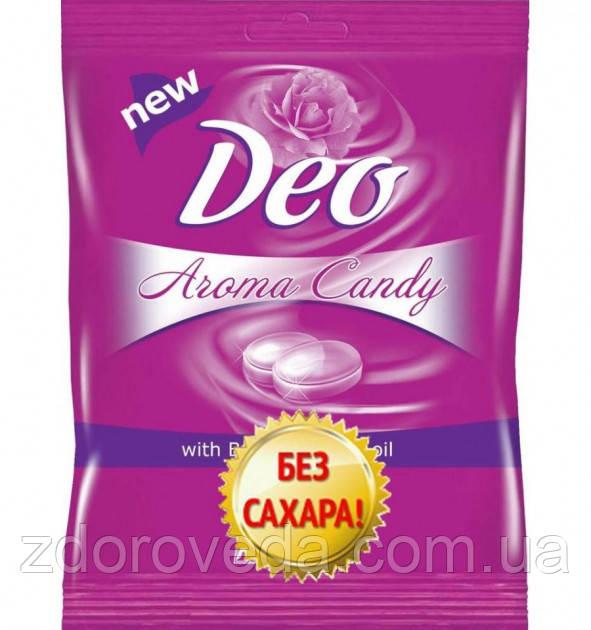 Леденцы без сахара Deo Aroma Candy Роза,  60 г