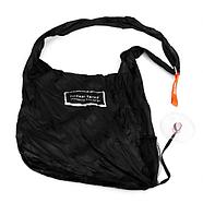 Складна компактна сумка-шоппер Shopping bag to roll up Чорний (KG-738), фото 3