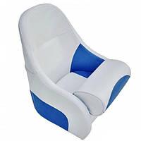 Кресло AquaLand Flip up с крепежной пластиной бело-синее (13126)