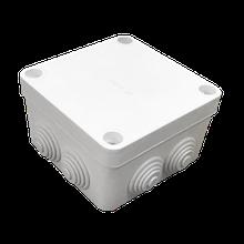 Коробка распределительная белая с кабельными вводами, IP55, 100х100х50